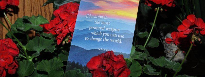 Senior Program and flowers