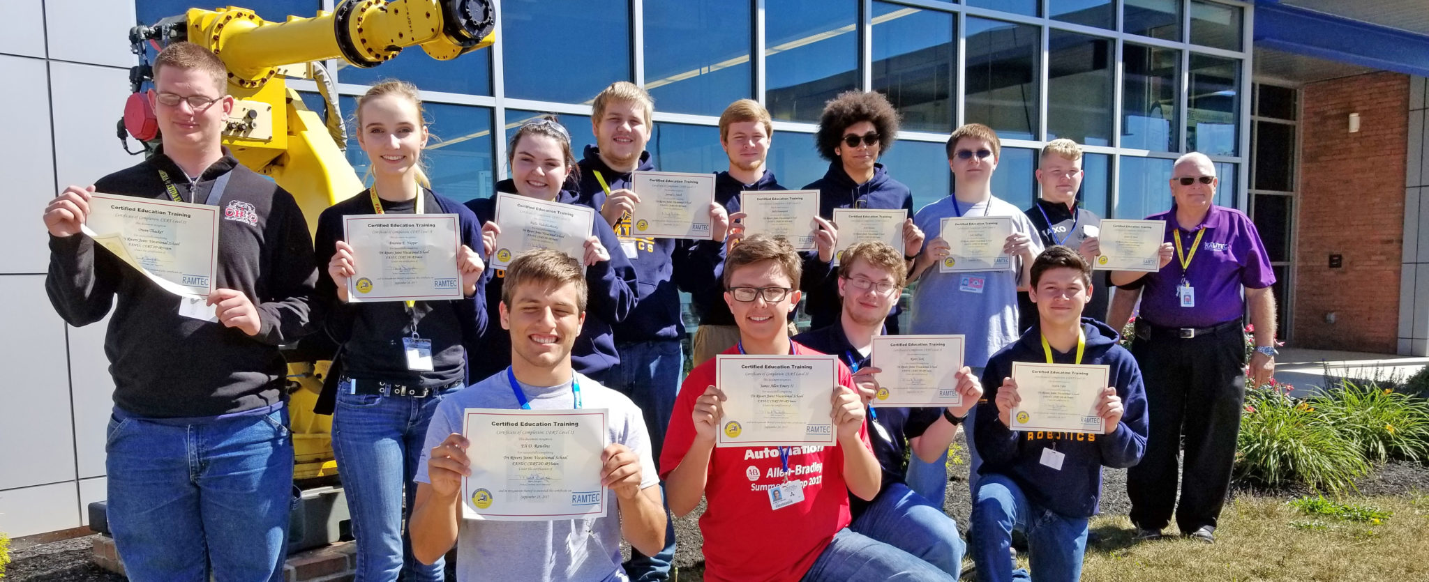 Tri-Rivers RAMTEC students 1st in nation to earn FANUC 2D iRVision