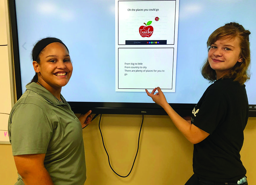 Teacher Academy students practice skills